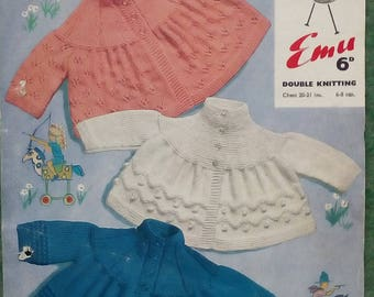 Vintage Emu double knit baby coats