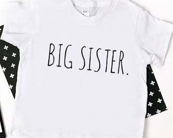 Big Sister Shirt; simple big sister shirt; new baby announcement; pregnancy announcement; family shirts; big sister tshirt; big sister tee