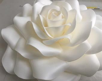 Flower decoration wedding giant rose foam event decoration white