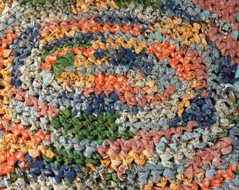 Hand Crocheted Rag Rug