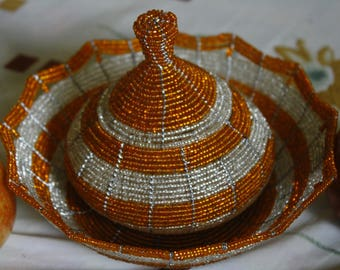 Gift for Her // Decorative Basket // Wire and bead basket // All hand made // uniquely basket // Beautiful gift // Free Shipping