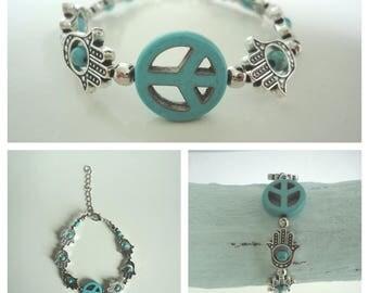 Hamsa Peace Bracelet