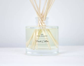 Fresh Cotton Reed Diffuser, Glass 120ml with Essential Oil
