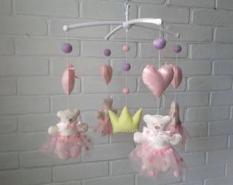musical mobile/baby mobile/Baby crib mobile/Teddy bears