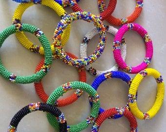 Masaai beaded bangles