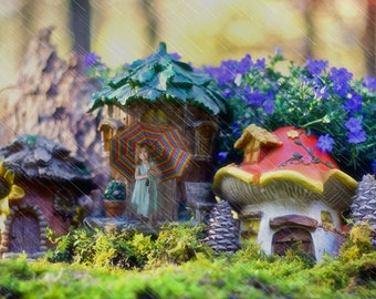 Fairy town backdrop