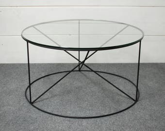 Round Glass Coffee Table, Coffee Table, Coffee Table Glass, Living Room Furniture, Modern Furniture, Glass Table Top, Side Table, End Table