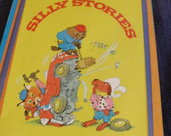 Richard Scarry's Silly Stories Children hard stock cover 1973