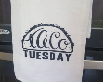 Taco Tuesday Flour Sack Towel