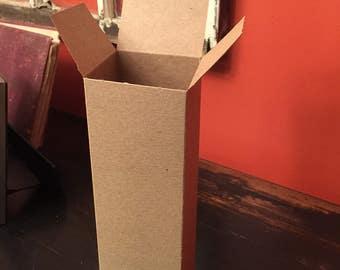 """3"""" x 3"""" x 10"""" Brown Kraft Gift Boxes.  10 Boxes."""