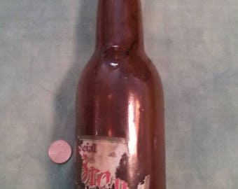 Vintage Amber glass Springfield Ohio Brewery, Home City Brewery, Brown Beer Bottle/Original/Liberty/Small Town/Collectors Item/Glass