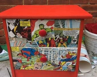Marvel comics set of drawers