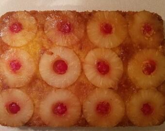 Pineapple upsidedown sheet cake