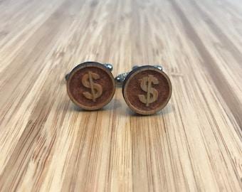 Cufflinks | Dollar Sign