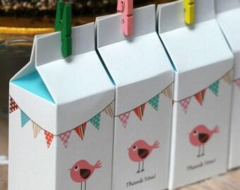 8 Cute Milk Carton Favour Boxes