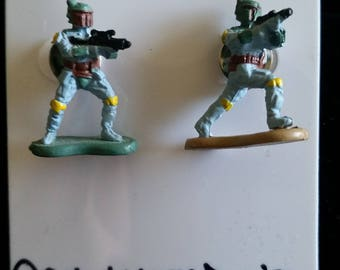 Vintage Star Wars Boba Fett Earrings