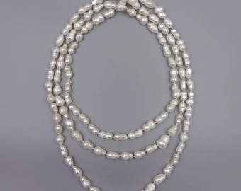 """60"""" Cultured fresh water pearl necklace"""