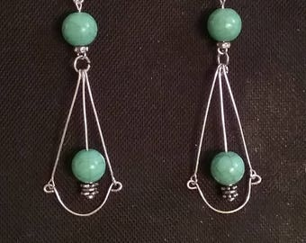 Dangle // Drop // Teal// earrings //everyday //casual //gifts for her