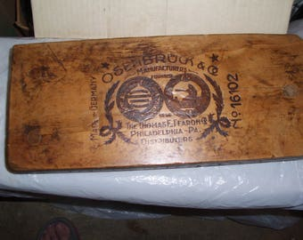 Free Shipping/Osenbruck Cigar Press or Mold 16102/Vintage Cigar Mold/Antique Cigar Press/German Cigar Mold/Wooden Cigar Press