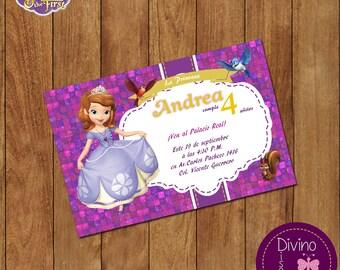 Sofia Princess birthday invitation