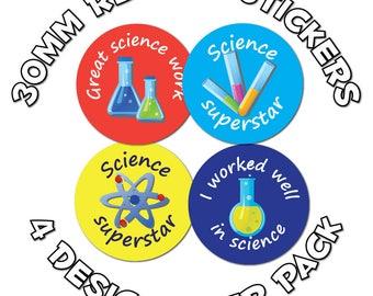 Science award - 30mm Children Reward Stickers - For School Teachers