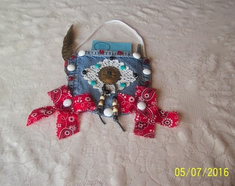 Pad Pocket with notepad and pen Western design.  Free Shipping in U.S.