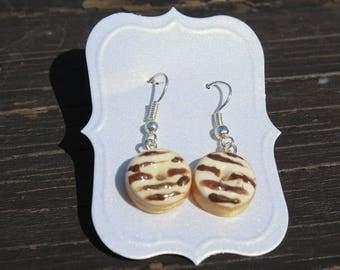 Donut Earrings - Striped
