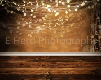 Golden sparkle digital backdrop