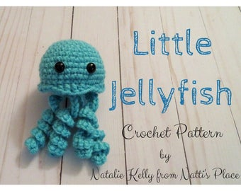 Little Jellyfish Crochet Pattern, Digital Download