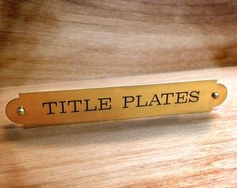 Art Nameplate Custom Engraved