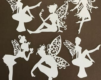 "6 Large 4"" Fairy Die Cuts for Invitations-Cardmaking-Scrapbooking-Craft Project"