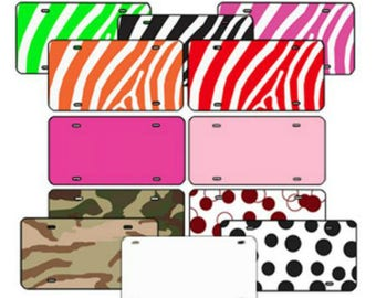 Plastic License Plate Blanks - 6 inch x 12 inch ~ Prints/Patterns