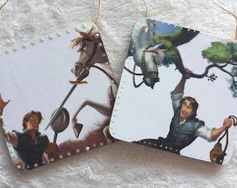 Disney Tangled Handmade Hanging Plaques (x2)