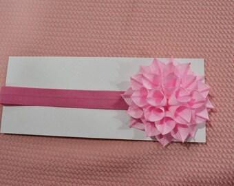 Pink Petal Baby Headband
