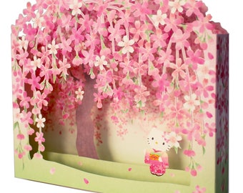 Hello Kitty Cherry Blossom Pop Up Card with envelope