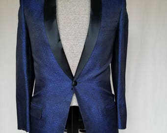 Ultra modern slim cut men's blue tuxedo jacket * FREE SHIPPING*