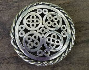 Ultra modern Hand crafted welded silver belt buckle  soldered * FREE SHIPPING*