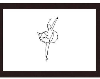 Ballerina, dancer, line, ligne, contemporary drawing, classic, ballerine, femme, fillette, fille, danseuse