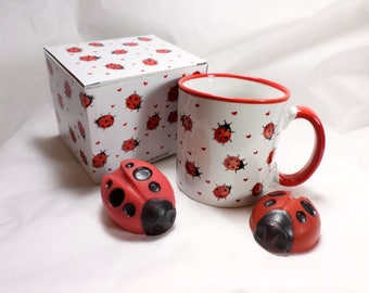 Ladybug Soaps with Sweet Ladybug Mug