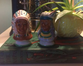 Vintage Native American salt and pepper shakers