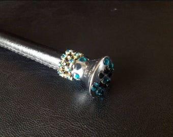 Swarovski Crystal Leather Dressage Whip