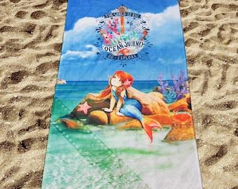 Digital Printed Beach Towel Mermaid