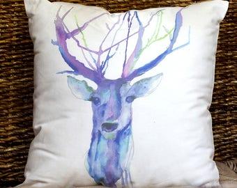 Purple Deer Cushion