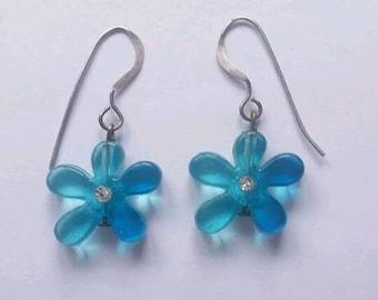 Flower power 1960s drop earrings
