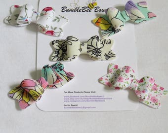 Handmade Floral Mini Bow Collection