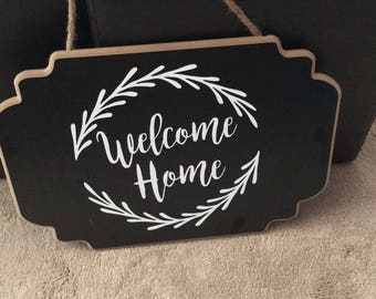 Welcome Home door sign