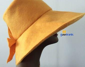 GM Ladies Wide Brim Summer Hat - Size 24 inches in diameter