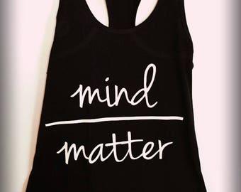 Mind Over Matter Tank, Black