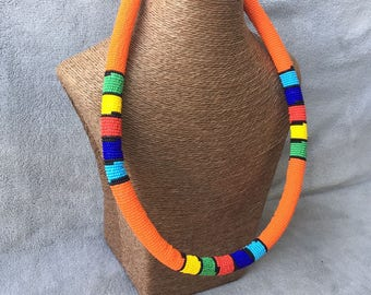 Beaded Necklace BIG SIZE Zulu Massai