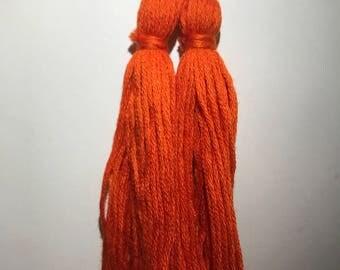Long Orange Tassel